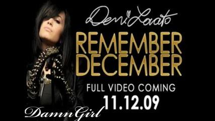 Demi Lovato - Remember December (second sneak peek)