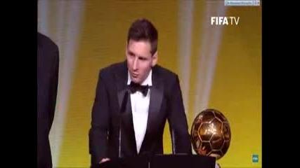 Messi спечели златната топка за 2015 година - негова пета златна топка !