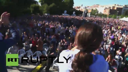 Spain: Iglesias leads huge Podemos rally in Madrid on eve of elections