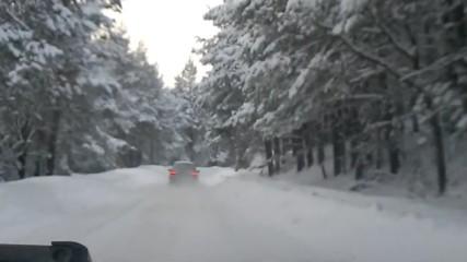 Bmw E39 в снега