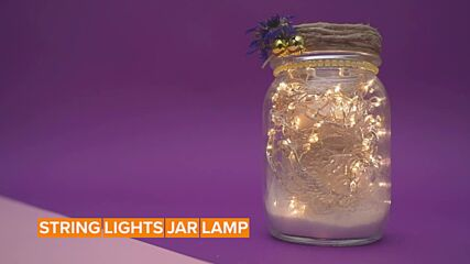 Jar decorations: light up your house