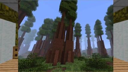 Minecraft 1.7 Red wood Forrest,savannah, Birch ,forrest ,messa Dark forest