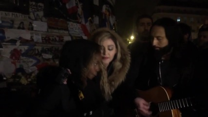 France: Madonna sings Lennon's 'Imagine' at memorial for Paris attack victims