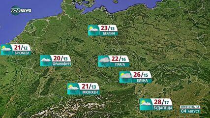 Прогноза за времето на NOVA NEWS (03.08.2021 – 20:00)