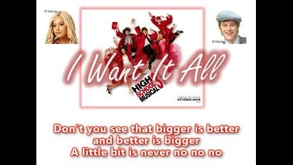 I Want It All - Hsm3 Full Song With Lyrics On Screen! Hq.
