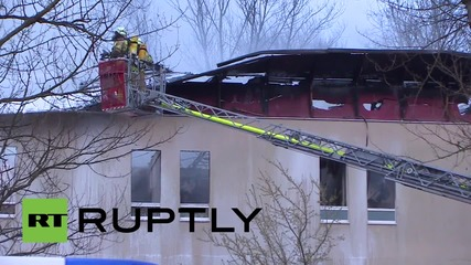 Germany: Two injured in Lichterfelde refugee camp blaze