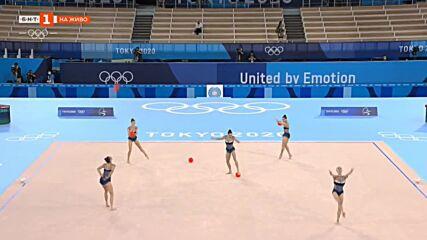 България ансамбъл - топки - Олимпийски шампионки - Токио 2020