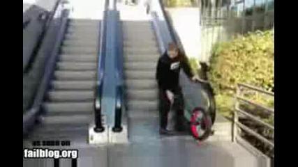 колелце провалено скачане