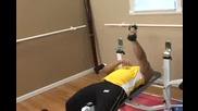 Бодибилдинг упражнения - Екстензия, легнал с един дъмбел, за трицепс Vbox7