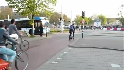 Час пик в Утрехт, Холандия