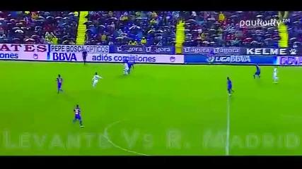 C.ronaldo получава сериозна аркада Real Madrid vs Levante