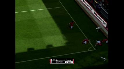 Добър гол на Робин Ван Перси. Fifa 13