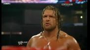 Wwe - Трите хикса и Ренди Ортан срещу Шеймъс Майонезата и Наследниците Хандикап мач 22.3.2010 година