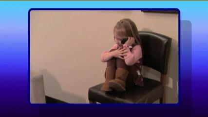 justin beber посещава 3 годишно момиче