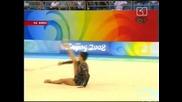 Изпълнението на Симона Пейчева с обръч по художествена гимнастика 21.08.08