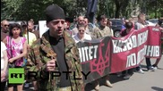 Ukraine: Protest calls for release of guerrilla group members detained by Kiev
