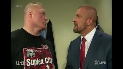 Трите Хикса надъхва Брок Леснар да събуди звяра в себе си - Wwe Raw - 01.02.16
