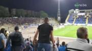 Бурната радост след първия гол на Боби Цонев