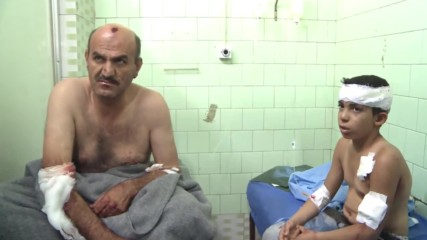 Syria: Casualties brought to Aleppo hospital following assault by rebels and Islamists *GRAPHIC*