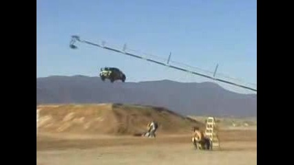 Ken Block is jumping 171ft. watch this!!!!