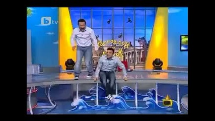 Господари на ефира - Рачков се преби по време на шоу - Смях!