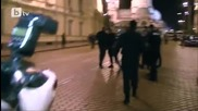 Волен Сидеров крещи к-рви на Бойко и се кара с полицаи 2013