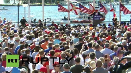 USA: 'Ever see a guy sweat like Rubio?' Trump mocks Republican rivals in Jacksonville