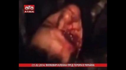 Янукович клекна пред терора в Украйна. / Тв Alfa - Атака 21.02.2014г.