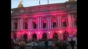 """Операта """"Гарние"""" в Париж засия в розово, като част от кампания за борба срещу рака на гърдата"""