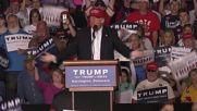 USA: Trump slates Obama, Cruz and Kasich at Harrington rally