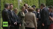 Germany: Merkel receives Cameron with military honours in Berlin