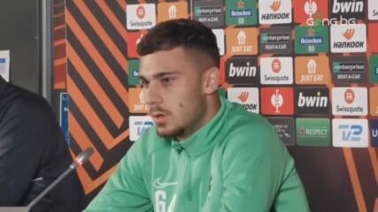 Доминик Янков: Готови сме за мача, радвам се, че ще има фенове