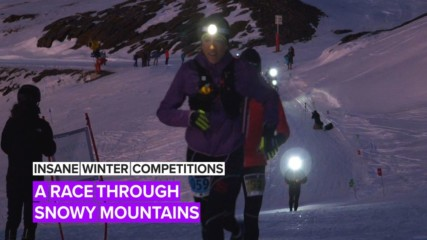 Insane Winter Competitions: Try doing a race… uphill, in snow, at night