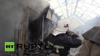 Ukraine: Blaze engulfs Donetsk market as shelling resumes, 4 reported dead