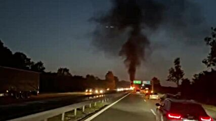 """МОЯТА НОВИНА: Автомобил се запали на АМ """"Тракия"""""""