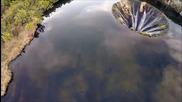 Лагуна, в която има водопад