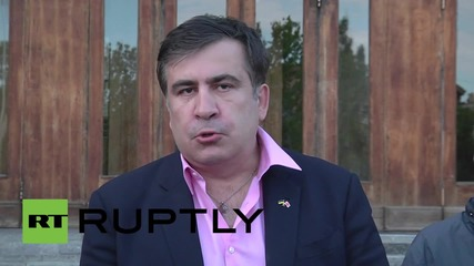 Ukraine: New Odessa governor Saakashvili speaks to press after surprise appointment