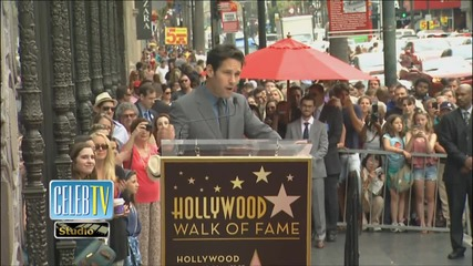 Paul Rudd Gets Star on Hollywood Walk of Fame!