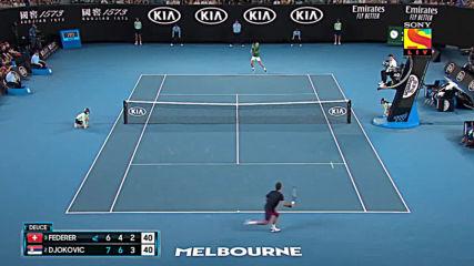 Novak Djokovic vs Roger Federer Australian Open 2020 Semi Final Highlights