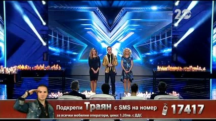 Траян Костов - X Factor Live (04.11.2014)