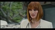 "Bryce Dallas Howard, Chris Pratt In Scene From ""Jurassic World"""