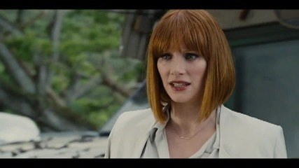 "Bryce Dallas Howard, Chris Pratt In Scene From ""Jurassic World"""