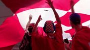 France: Portuguese and Croatian fans paint the town red ahead of Euro showdown