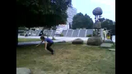 Aerial,  Front Flip and Side Flip