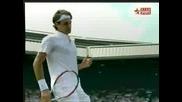 Wimbledon - Federer - Hrbaty - 5:1 Втори Сет