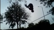Slackline трикове,тренировки и падания :)