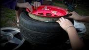 Поставяне на тесни гуми върху широки джанти !