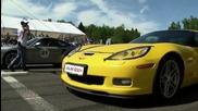 Porsche 911 Turbo Stock vs Lamborghini Gallardo Lp560 Stock vs Corvette Z06 Stock