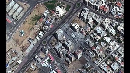 State of Palestine/Israel: Satellite images capture escalating conflict *STILLS*
