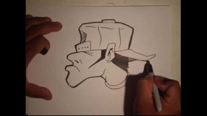 Как Да Нарисуваме Маняк На Тема Графити [part 3]